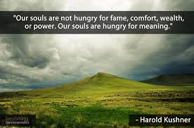 souls hungry for meaning